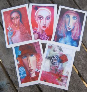 Red Portrait ($25 per pack of 5)